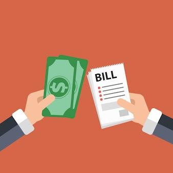 Koncepty płatności rachunków