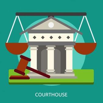 Konstrukcja budynku sądu tle