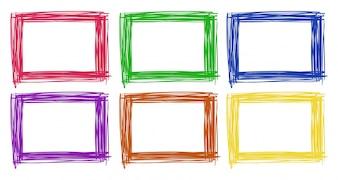 Konstrukcja ramy w sześciu kolorach