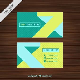 Korporacyjnych kart z linii i abstrakcyjne kształty