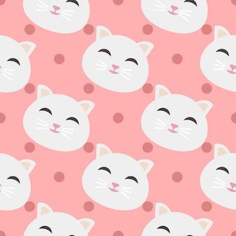 Koty wzór tła