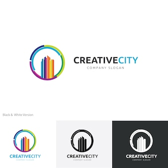 Kreatywny szablon logo miasta.