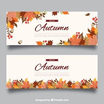 Kreatywnych transparentu jesienią