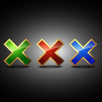 Krzyż symbolu ilustracji wektorowych kształtu