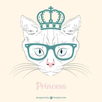 Księżniczka kot wektor