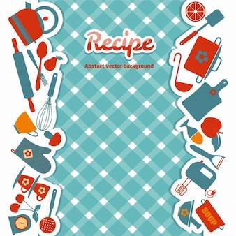 Kuchnia jasna abstrakcyjne ilustracji