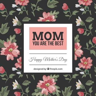 Kwiatowe dzień matki z życzeniami