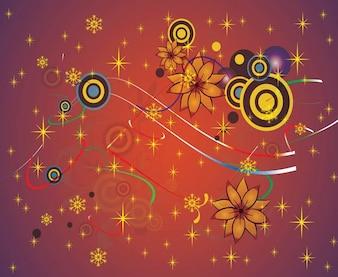 kwiaty grafiki wektorowej tle