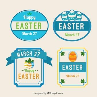 Label Collection Niebieski Dzień Wielkanocy