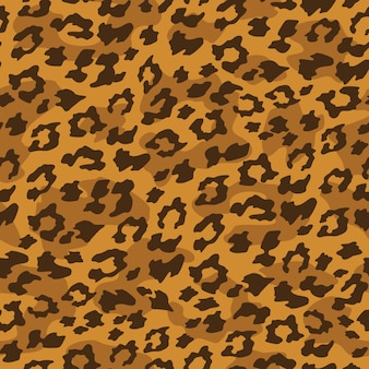 Leopard bez szwu tła. Ilustracji wektorowych.