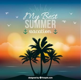 Letnie wakacje w tle