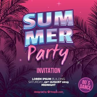 Letnie zaproszenie na przyjęcie