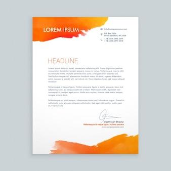 List firm z pomarańczowymi plamami atramentu