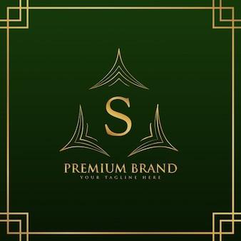 Litera S monogram logo koncepcja w eleganckim stylu