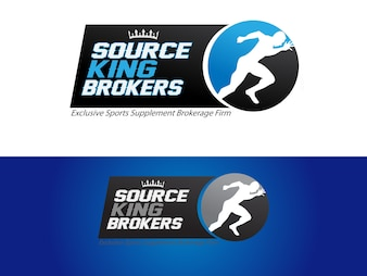 Logo firmy brokerskiej uzupełniającej sport