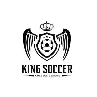 Logo piłki nożnej, Logo piłki nożnej, logo drużyny sportowej, wektorTemplate