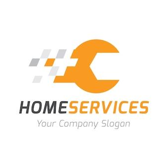Logo usług domowych, szablon logo Home care.