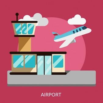 Lotnisko wzór tła