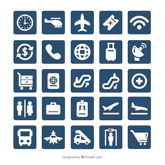 Lotnisko zbiór ikon