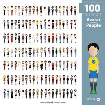 Ludzie kolekcja awatary