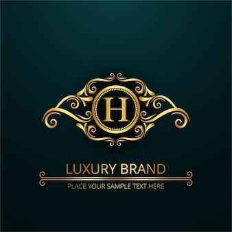 Luksusowa litera h logo