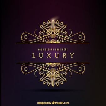 Luksusowe złote ozdobne logo