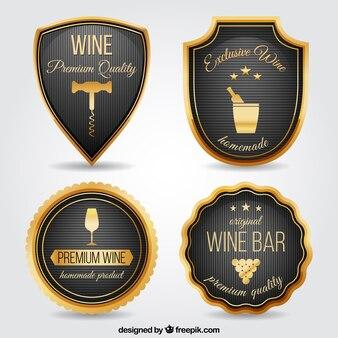 Luksusowy wine bar odznaki