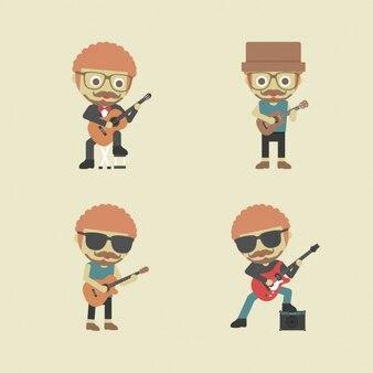 Mężczyźni gry na gitarze