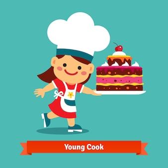 Młody gotować tle