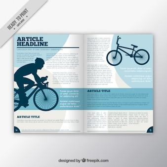 magazyn sportowy z rowerzystą