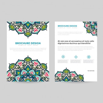 Mandala broszura szablon