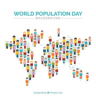 Mapa składa się z ludzi tle