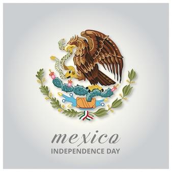 Meksyk Kraj Orzeł Symbol Indepence Day tle