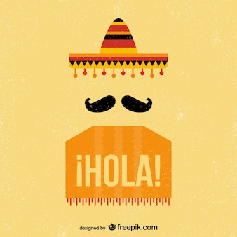 Meksykanin rocznika tle