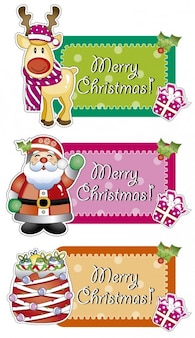 Merry Christmas etykiety