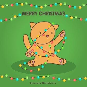Merry Christmas karty z cute kotów