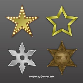 Metalowe gwiazdek