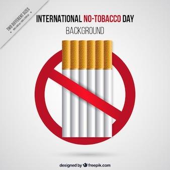 Międzynarodowy dzień bez tytoniu tle