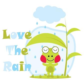 Miłość na tle deszczu