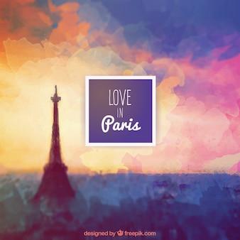 Miłość w Paryżu tle