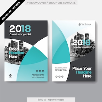 Miasto Tło Biznesowa książka Okładka Szablon Projektu