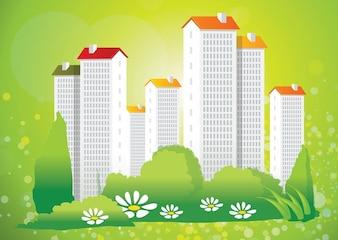 miasto zielone wektor życia