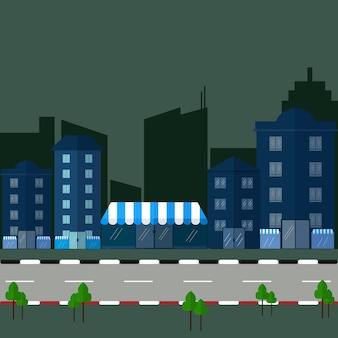 Miejskiego krajobrazu i miasta życia ilustracji wektorowych.