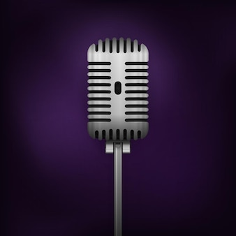 Mikrofon Retro Vector