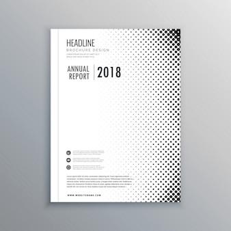 Minimalne biznes broszura szablon projektu ulotki w formacie A4