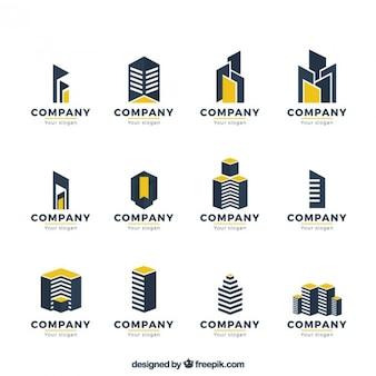 Modernistyczny nieruchomości kolekcja logo
