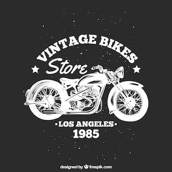 Motocykl rocznika emblemat