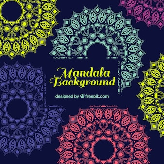 Multicolor mandala tła