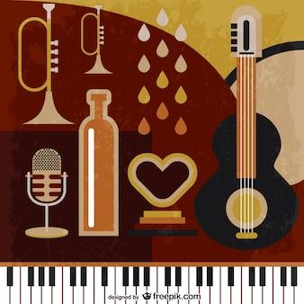 Muzyka retro wektorowe