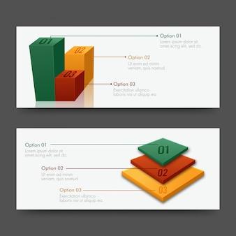 Nagłówki witryn internetowych lub projektowanie banerów z projektem infografiki.